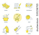 hobbies vector icons set | Shutterstock .eps vector #535258705