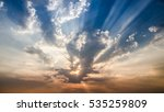sunset or sunrise with cloud... | Shutterstock . vector #535259809