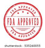 rubber stamp with text  fda... | Shutterstock .eps vector #535260055