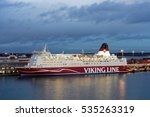 Small photo of HELSINKI, FINLAND - NOVEMBER 26, 2016: Cruiseferry Mariella of Viking line company ready to departs to Stockholm. Built in 1985, the ship has passenger capacity of 2500
