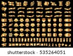 ribbon banner label gold vector ... | Shutterstock .eps vector #535264051