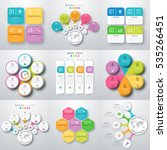 set with infographics. data and ... | Shutterstock .eps vector #535266451