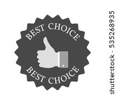 best choice concept icon....