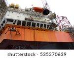 offshore oil rig drilling... | Shutterstock . vector #535270639