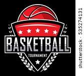 basketball logo  america logo ... | Shutterstock .eps vector #535274131