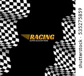 racing background with race... | Shutterstock .eps vector #535275859