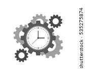 clock with cogwheels icon. time ...