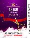 grand opening invitation card.... | Shutterstock .eps vector #535276777