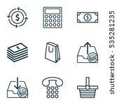 set of 9 e commerce icons.... | Shutterstock .eps vector #535281235