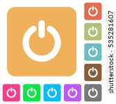 power switch icons on rounded... | Shutterstock .eps vector #535281607