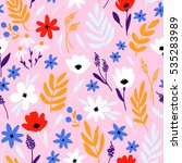 vector floral pattern with... | Shutterstock .eps vector #535283989