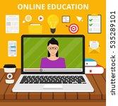 training  education  online... | Shutterstock .eps vector #535289101
