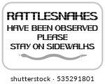 caution sign rattlesnake.... | Shutterstock .eps vector #535291801