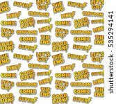 cartoon comic text sticker... | Shutterstock . vector #535294141