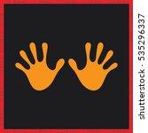 stop hand icon vector | Shutterstock .eps vector #535296337