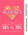 happy valentine's day poster. ... | Shutterstock .eps vector #535297291