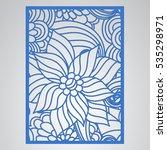 die cut card. laser cut vector...   Shutterstock .eps vector #535298971