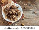 healthy organic energy granola... | Shutterstock . vector #535300045