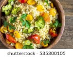 delicious homemade vegetarian... | Shutterstock . vector #535300105