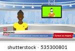 anchorman in breaking news in... | Shutterstock .eps vector #535300801