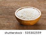 close up thai jasmine rice in... | Shutterstock . vector #535302559