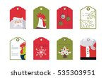 gift tag collection with... | Shutterstock .eps vector #535303951