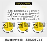 yellow linear infographic... | Shutterstock .eps vector #535305265