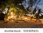 evening phangan beach glowing... | Shutterstock . vector #535309651