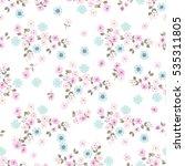 simple cute pattern in small...   Shutterstock .eps vector #535311805
