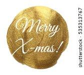 merry x mas christmas golden... | Shutterstock .eps vector #535313767