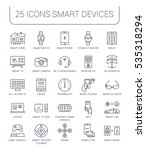 set  line icons with open path... | Shutterstock . vector #535318294