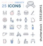 set  line icons in flat design... | Shutterstock . vector #535318441