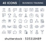 set  line icons in flat design... | Shutterstock . vector #535318489