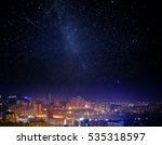 city landscape at nigh with sky ...   Shutterstock . vector #535318597