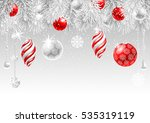 christmas greeting card with... | Shutterstock .eps vector #535319119