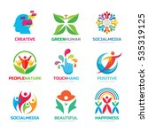 logo template vector set... | Shutterstock .eps vector #535319125