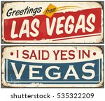 las vegas retro tin sign design ... | Shutterstock .eps vector #535322209