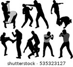 street fight people silhouettes ... | Shutterstock .eps vector #535323127