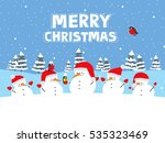 merry christmas. greeting card... | Shutterstock . vector #535323469