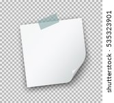 paper sheet with curl corner on ... | Shutterstock .eps vector #535323901