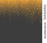 gold glitter stardust christmas ... | Shutterstock .eps vector #535324501