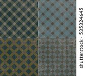 vector seamless vintage retro... | Shutterstock .eps vector #535324645