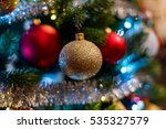 christmas tree ornaments made... | Shutterstock . vector #535327579