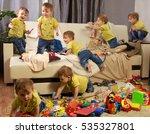 child scattered toys. children... | Shutterstock . vector #535327801