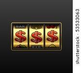 dollars on slot machine. vector. | Shutterstock .eps vector #53533063