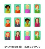 flat set of illustrations of... | Shutterstock .eps vector #535334977