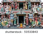 Small photo of Sri Mariamman Temple is oldest Hindu temple in Singapore. Agamic temple, built in Dravidian style. Located in Chinatown.