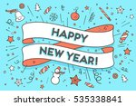 greeting card with trendy... | Shutterstock .eps vector #535338841