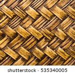 Pattern Of Bamboo Cross Weave ...