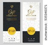 luxury style gift voucher... | Shutterstock .eps vector #535340371